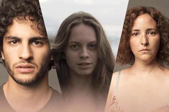 Los actores jóvenes de Las Hijas de Abril